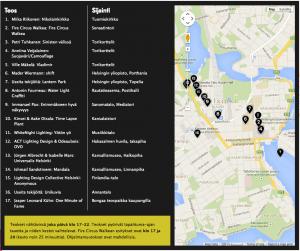 Lux Helsinki-valofestivaalin ohjelma 2015